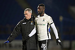 St Johnstone v Inverness Caley Thistle…03.12.16   McDiarmid Park..     SPFL<br />Losana Doumbouya is helped off the pitch after a head knock<br />Picture by Graeme Hart.<br />Copyright Perthshire Picture Agency<br />Tel: 01738 623350  Mobile: 07990 594431