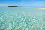 A white sand spit in a lonely atoll in Raja Ampat, Indonesia, Pacific Ocean