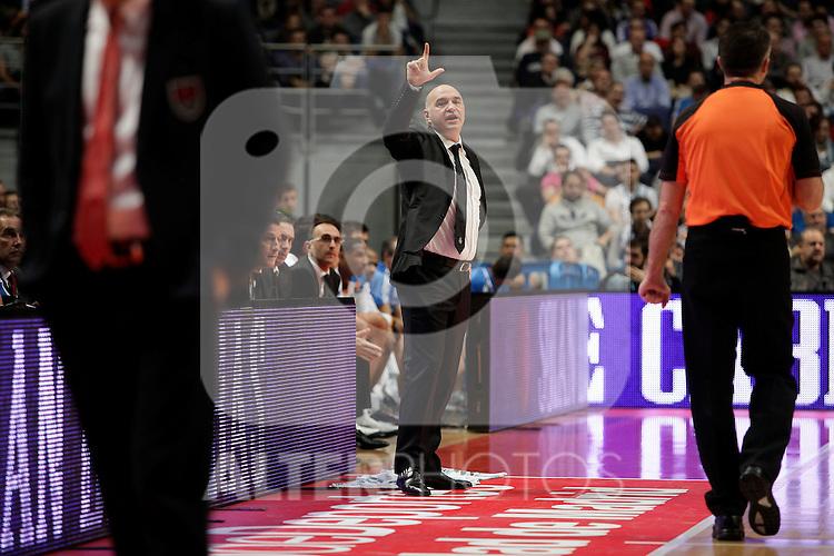 Real Madrid´s  coach Pablo Laso  during Euroleague Basketball match. November 01,2013. (ALTERPHOTOS/Victor Blanco)