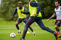 Wednesday 26 July 2017<br /> Pictured: Tammy Abraham in action during training <br /> Re: Swansea City FC Training session takes place at the Fairwood Training Ground, Swansea, Wales, UK