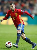 Spain's Jordi Alba during FIFA World Cup 2018 Qualifying Round match. March 24,2017.(ALTERPHOTOS/Acero) /NortePhoto.com