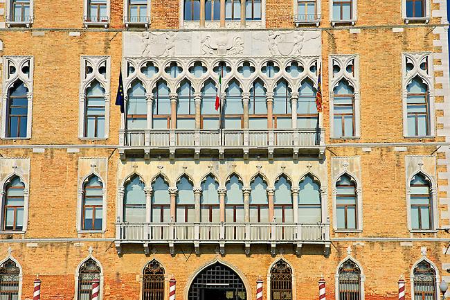 Palazio Ca' Foscari, Built by the doge Francesco Foscari in 1453, is now the main seat of Ca' Foscari University of Venice..