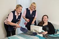 Competition winner Helen Wayte is pictured with Morag Urquart (left) and Lisa Moore of Molly Maid