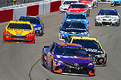 Monster Energy NASCAR Cup Series<br /> Toyota Owners 400<br /> Richmond International Raceway, Richmond, VA USA<br /> Sunday 30 April 2017<br /> Denny Hamlin, Joe Gibbs Racing, FedEx Ground Toyota Camry and Jamie McMurray, Chip Ganassi Racing, GearWrench Chevrolet SS<br /> World Copyright: Russell LaBounty<br /> LAT Images<br /> ref: Digital Image 17RIC1Jrl_6336