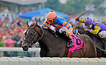 1 August 10: Roarling Lion and jockey Eddie Castro win The Teddy Drone Stakes on Haskell Invitational Day at Monouth Park in Oceanport, New Jersey