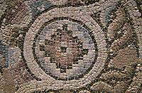 Zypern (Süd), Pafos, Mosaik inder Ruine der frühchristlichen Basilika Agia Chrysopolitissa