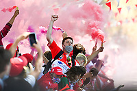 Biarritz fans during the Top 14 Play-off rugby match between Biarritz and Bayonne at Parc des Sports Aguilera in Biarritz, France on Saturday, June 12, 2021. Photo by Alexandre Dimou / Icon Sport