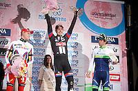 106th Milano - San Remo 2015 podium:<br /> 1/ John Degenkolb (DEU/Giant-Alpecin) <br /> 2/ Alexander Kristoff (NOR/Katusha)<br /> 3/ Michael Matthews (AUS/Orica-GreenEDGE)