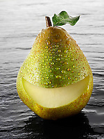 Fresh whole smile comice pears