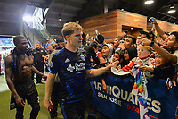 San Jose, CA - Monday July 10, 2017: Florian Jungwirth, fans after a U.S. Open Cup quarterfinal match between the San Jose Earthquakes and the Los Angeles Galaxy at Avaya Stadium.