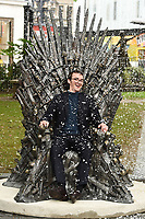 at the Iron Throne from Game of Thrones unveiling in Leicester Square, London.<br /> <br /> ©Ash Knotek  D3565 22/06/2021