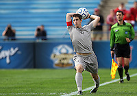 HOOVER, AL - DECEMBER 09, 2012: Jimmy Nealis (16) of Georgetown University takes a throw in during the NCAA 2012 Men's College Cup championship, at Regions Park, in Hoover , AL, on Sunday, December 09, 2012.
