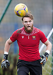 St Johnstone Training....<br />Keeper Zander Clark pictured during training at McDiarmid Park ahead of tomorrow's Betfred Cup game against Peterhead.<br />Picture by Graeme Hart.<br />Copyright Perthshire Picture Agency<br />Tel: 01738 623350  Mobile: 07990 594431