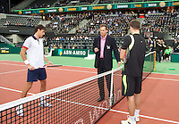 2011-02-08, Tennis, Rotterdam, ABNAMROWTT,  Toss with Soderling and Haase(L)