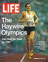 LIFE cover, Gold medal marathoner Frank Shorter, September 22, 1972. Photo by John G. Zimmerman.
