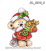 CHRISTMAS ANIMALS, WEIHNACHTEN TIERE, NAVIDAD ANIMALES, paintings+++++,KL6210/5,#xa# ,sticker,stickers