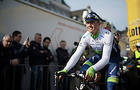 Simon Gerrans (AUS/Orica-GreenEDGE) at the start<br /> <br /> 50th Amstel Gold Race 2015
