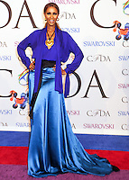 NEW YORK CITY, NY, USA - JUNE 02: Iman arrives at the 2014 CFDA Fashion Awards held at Alice Tully Hall, Lincoln Center on June 2, 2014 in New York City, New York, United States. (Photo by Celebrity Monitor)