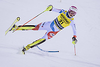 22nd December 2020, Madonna di Campiglio, Italy; FIS Mens slalom world cup race;  Tanguy Nef of Switzerland in action during his 2nd run of mens Slalom