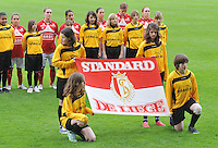 Bekerfinale 2012 : WD Lierse SK - Standard Femina :.de vlag van Standard.foto David Catry / Joke Vuylsteke / Vrouwenteam.be