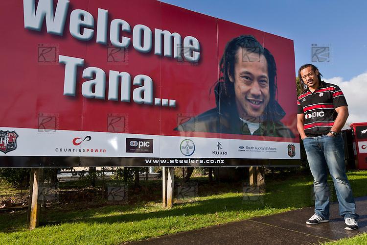 New Counties Manukau Steelers Assistant Coach/Player Tana Umaga at Growers Stadium Pukekohe , June 22nd 2010.