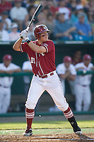 Oklahoma's DH Kaleb Herren in Game 10 of the NCAA Division One Men's College World Series on June 24th, 2010 at Johnny Rosenblatt Stadium in Omaha, Nebraska.  (Photo by Andrew Woolley / Four Seam Images)
