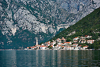 Historic city of Perast, Bay of Kotor, Montenegro
