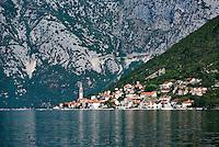 Historic city of Perast, Bay of Kotor, Montenegro