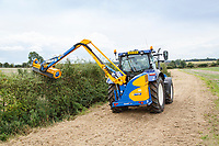 Cutting farm hedges - Lincolnshire, September