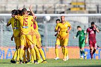 Cittadella esulta per il gol dello 0-2 <br /> Campionato di calcio Serie BKT 2019/2020<br /> Livorno - Cittadella<br /> Stadio Armando Picchi 20/06/2020<br /> Foto Andrea Masini/Insidefoto