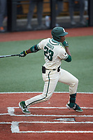 Gino Groover (23) of the Charlotte 49ers at bat against the Tennessee Volunteers at Hayes Stadium on March 9, 2021 in Charlotte, North Carolina. The 49ers defeated the Volunteers 9-0. (Brian Westerholt/Four Seam Images)