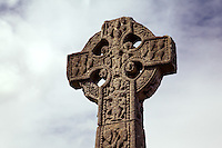 Celtic High Cross in Drumcliffe Cemetery, St. Columba's Church, Drumcliffe, County Sligo, Republic of Ireland