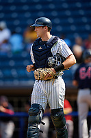 Staten Island Yankees catcher Jackson Thoreson (35) during a game against the Lowell Spinners on August 22, 2018 at Richmond County Bank Ballpark in Staten Island, New York.  Staten Island defeated Lowell 10-4.  (Mike Janes/Four Seam Images)