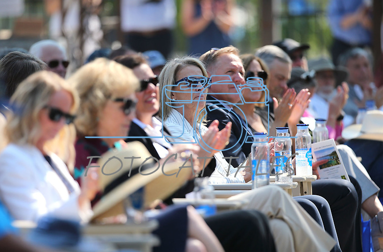 Federal, state and local officials gather for the 22nd annual Lake Tahoe Summit, at Sand Harbor State Park, near Incline Village, Nev., on Tuesday, Aug. 7, 2018. <br /> Photo by Cathleen Allison/Nevada Momentum