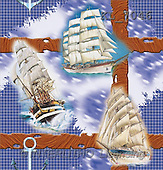 Interlitho, Luis, GIFT WRAPS, paintings, sailing ships(KL7046,#GP#) everyday