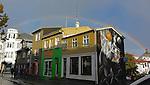 Rainbow in Reykjavik, Iceland.  (Bob Gathany)