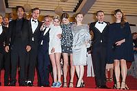Lars Eidinger, Olivier Assayas, actress Kristen Stewart, actress Sigrid Bouaziz, Nora von Waldstaetten, Danielsen Lie - CANNES 2016 - DESCENTE DU FILM 'PERSONAL SHOPPER'