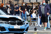 Actress Hayley Atwell getting make the set of the film Mission Impossible 7 at Imperial Fora in Rome.  <br /> Rome (Italy), October 13th 2020<br /> Photo Samantha Zucchi Insidefoto