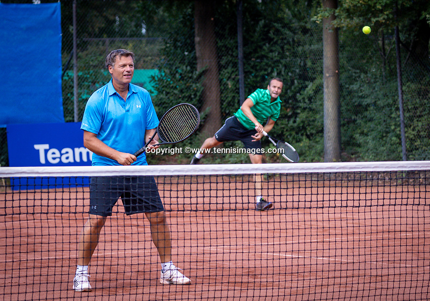 Hilversum, The Netherlands,  August 18, 2020,  Tulip Tennis Center, NKS, National Senior Championships, Men's double 35 + , Frank Bitter<br /> Roel de Bont (NED) <br /> Photo: www.tennisimages.com/Henk Koster