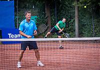 Hilversum, The Netherlands,  August 18, 2020,  Tulip Tennis Center, NKS, National Senior Championships, Men's double 35 + , Frank Bitter<br /> Roel de Bont (NED) <br /> Photo: www.tennisimages.com/Henk Koster