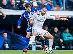 Daniel Carvajal Ramos (R) of Real Madrid fights for the ball with Alvaro Medran of Deportivo Alaves during the La Liga 2017-18 match between Real Madrid and Deportivo Alaves at Santiago Bernabeu Stadium on February 24 2018 in Madrid, Spain. Photo by Diego Souto / Power Sport Images