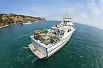 Boat Leaving Island