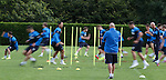 Kenny McDowall and Jim Henry putting the Rangers players through their paces