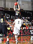 Grambling State Tigers forward Lance Feurtado (20) in action during the SWAC Tournament game between the Grambling State Tigers and the Mississippi Valley State Delta Devils at the Special Events Center in Garland, Texas. Grambling State defeats Mississippi Valley 65 to 62