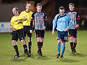Forfar's Martyn Fotheringham (15) is booked after the final whistle.