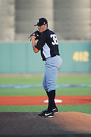 Staten Island Yankees pitcher Jordan Foley (38) during game against the Brooklyn Cyclones at MCU Park on June 29, 2014 in Brooklyn, NY.  Staten Island defeated Brooklyn 5-4.  (Tomasso DeRosa/Four Seam Images)