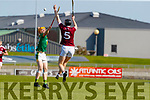 Evan Murphy, Causeway in action against Robert Collins, Kilmoyley during the Kerry County Senior Hurling Championship Final match between Kilmoyley and Causeway at Austin Stack Park in Tralee