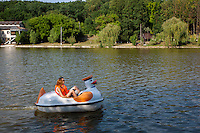 Romania. Iași County. Iasi. A loving couple rides a duck pedalo on lake Ciric. Iași (also referred to as Iasi, Jassy or Iassy) is the largest city in eastern Romania and the seat of Iași County. Located in the Moldavia region, Iași has traditionally been one of the leading centres of Romanian social life. The city was the capital of the Principality of Moldavia from 1564 to 1859, then of the United Principalities from 1859 to 1862, and the capital of Romania from 1916 to 1918. 11.06.15 © 2015 Didier Ruef
