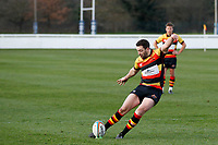 PENALTY - Tom Hodgson of Richmond Rugby kicks and scores during the English National League match between Richmond and Blackheath  at Richmond Athletic Ground, Richmond, United Kingdom on 4 January 2020. Photo by Carlton Myrie.