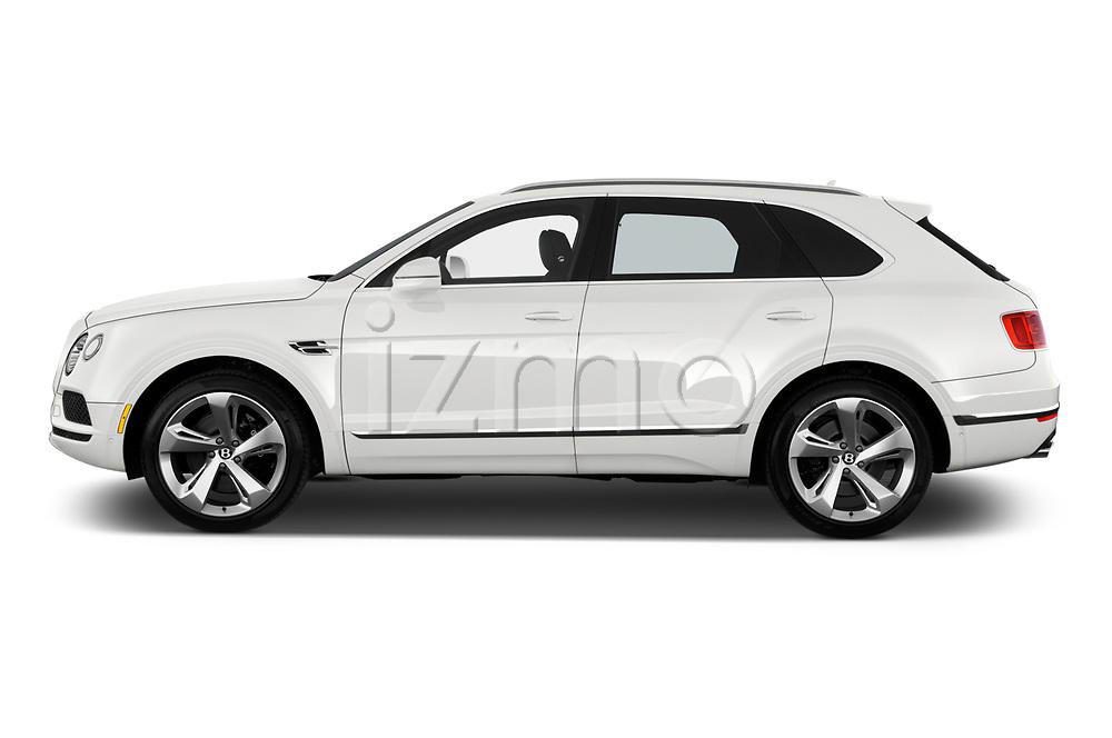 Car driver side profile view of a 2018 Bentley Bentayga Base 5 Door SUV